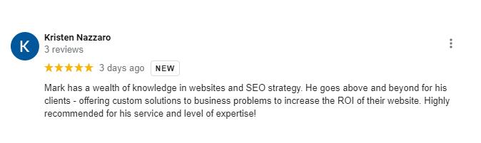 Mentality Designs Google My Business Testimonial 9